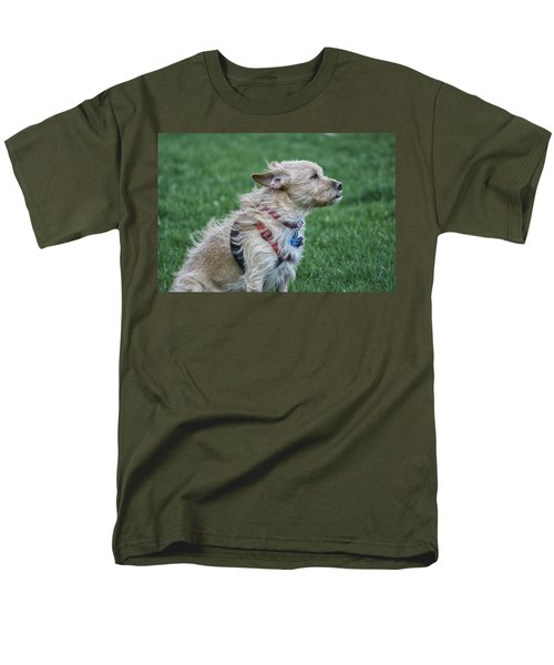 Men's T-Shirt  (Regular Fit) featuring the photograph Cruz Enjoying A Warm Gentle Breeze by Thomas Woolworth
