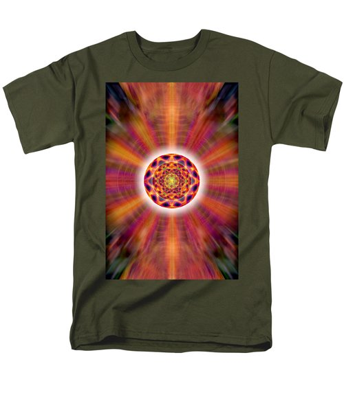 Men's T-Shirt  (Regular Fit) featuring the drawing Crystal Ball Of Light by Derek Gedney
