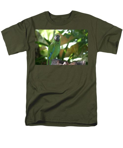 Curacao Parrot Men's T-Shirt  (Regular Fit) by Living Color Photography Lorraine Lynch