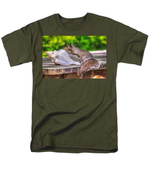 Men's T-Shirt  (Regular Fit) featuring the photograph Curious Squirrel by Rob Sellers