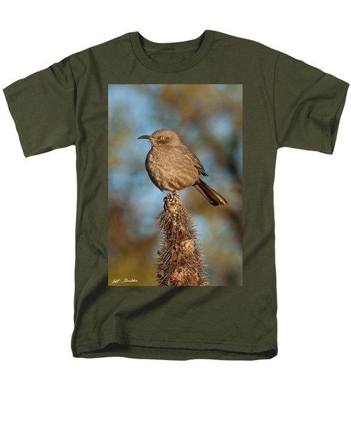 Curve-billed Thrasher On A Cactus Men's T-Shirt  (Regular Fit) by Jeff Goulden