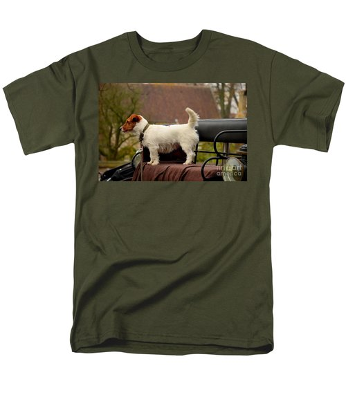 Cute Dog On Carriage Seat Bruges Belgium Men's T-Shirt  (Regular Fit) by Imran Ahmed