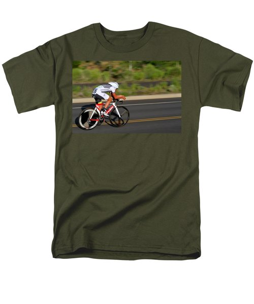 Men's T-Shirt  (Regular Fit) featuring the photograph Cycling Time Trial by Kevin Desrosiers