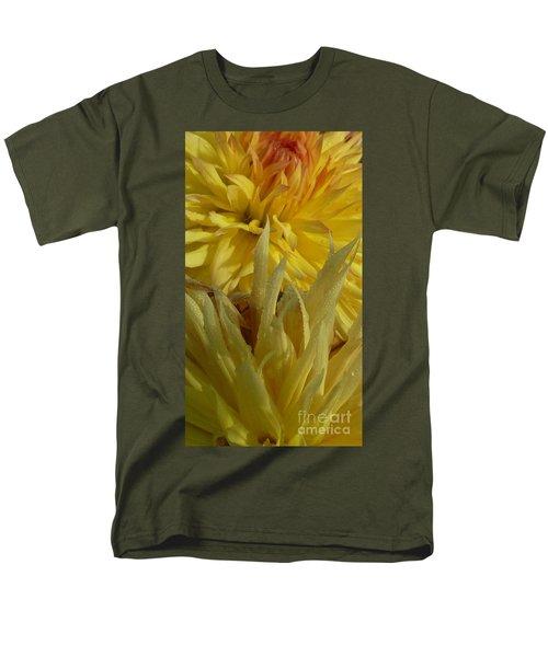 Men's T-Shirt  (Regular Fit) featuring the photograph Dahlia Dew Yellow by Susan Garren