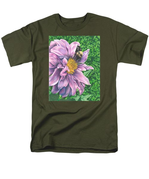 Men's T-Shirt  (Regular Fit) featuring the drawing Dahlia by Troy Levesque