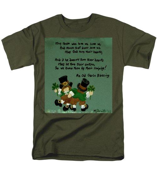 Men's T-Shirt  (Regular Fit) featuring the painting Dancing Folk by Barbara McDevitt