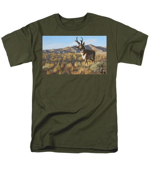 Men's T-Shirt  (Regular Fit) featuring the painting Desert Buck by Rob Corsetti
