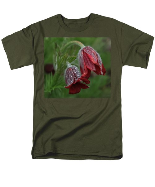 Dew Covered Pasque Flower Men's T-Shirt  (Regular Fit) by Jane Luxton