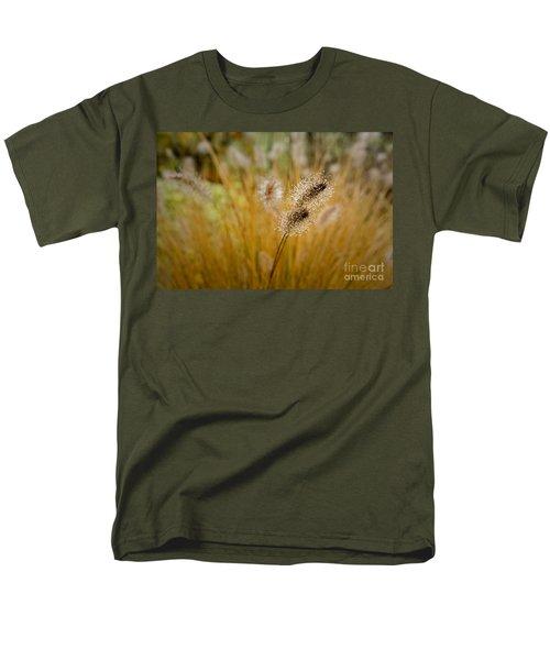 Dew On Ornamental Grass No. 4 Men's T-Shirt  (Regular Fit) by Belinda Greb