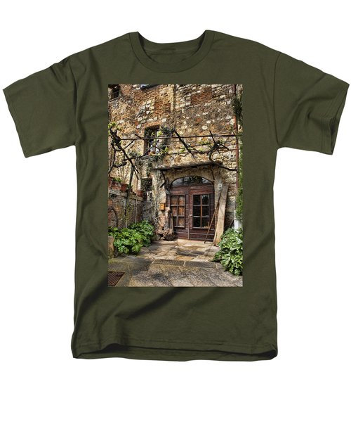 Men's T-Shirt  (Regular Fit) featuring the photograph Door Montepulciano Italy by Hugh Smith