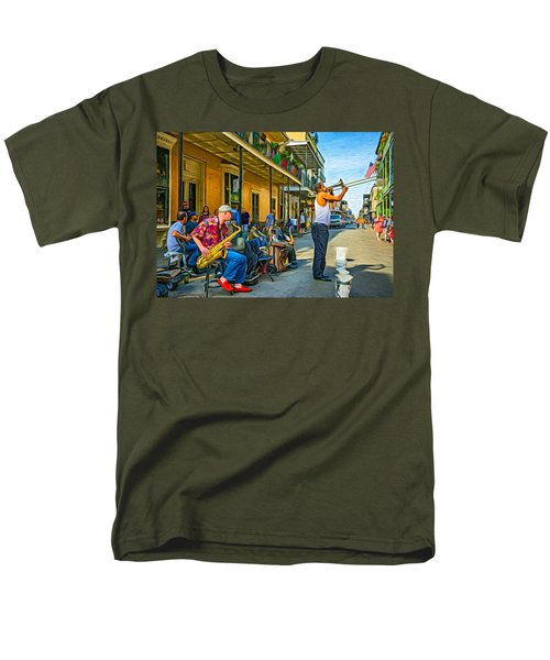 Doreen's Jazz New Orleans - Paint Men's T-Shirt  (Regular Fit) by Steve Harrington