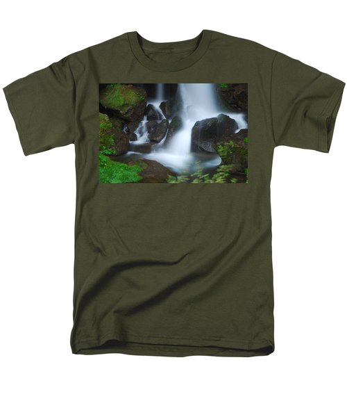 Men's T-Shirt  (Regular Fit) featuring the photograph Dragon Head Falls by Jonah  Anderson