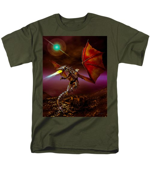 Dragon Rider Men's T-Shirt  (Regular Fit) by Bob Orsillo