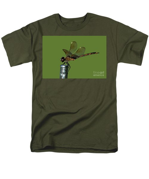 Men's T-Shirt  (Regular Fit) featuring the photograph Dragonfly by Meg Rousher