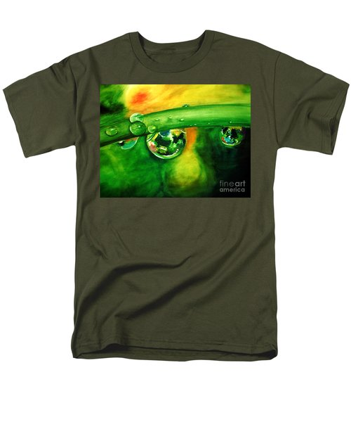 Men's T-Shirt  (Regular Fit) featuring the painting Droplets by Allison Ashton