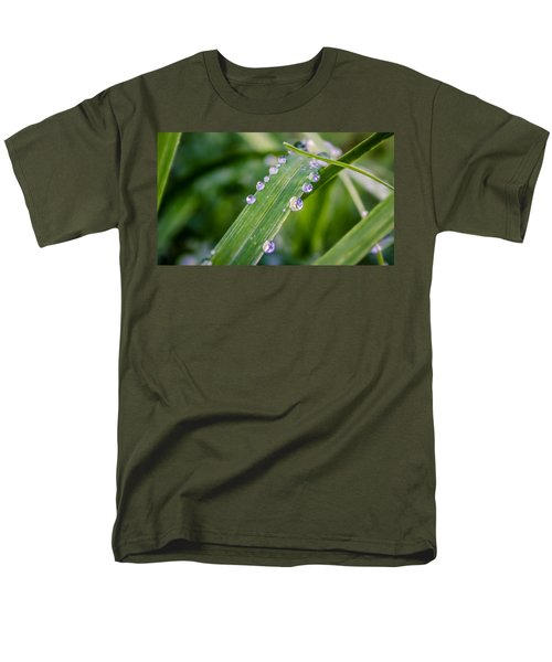 Drops On Grass Men's T-Shirt  (Regular Fit) by Rob Sellers