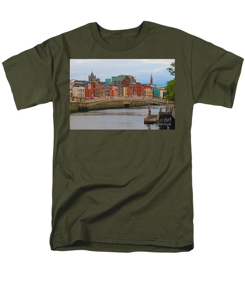 Dublin On The River Liffey Men's T-Shirt  (Regular Fit) by Mary Carol Story