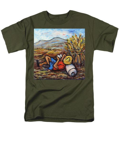 Men's T-Shirt  (Regular Fit) featuring the painting During The Break by Xueling Zou