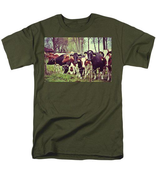 Men's T-Shirt  (Regular Fit) featuring the photograph Dutch Cows by Nick  Biemans