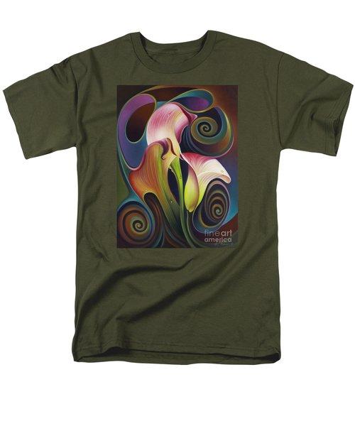 Dynamic Floral 4 Cala Lillies Men's T-Shirt  (Regular Fit)