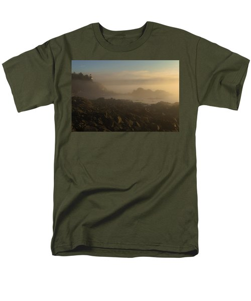 Early Morning Fog At Quoddy Men's T-Shirt  (Regular Fit) by Marty Saccone