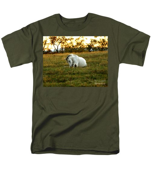 Easier Lying Down Men's T-Shirt  (Regular Fit) by Carol Lynn Coronios