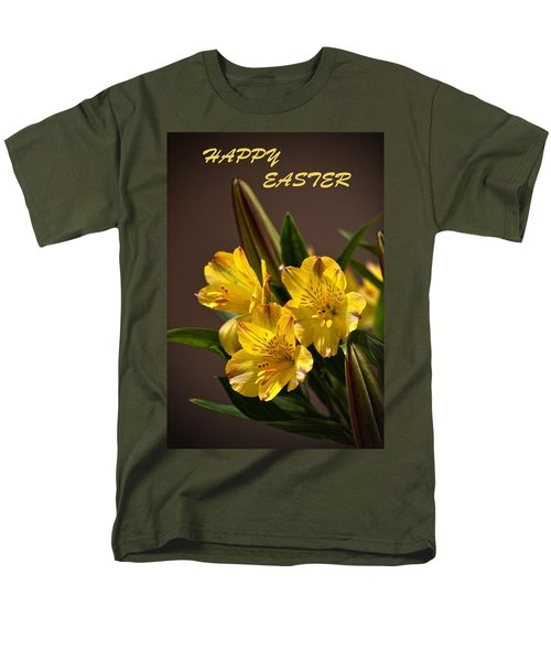 Easter Lilies Men's T-Shirt  (Regular Fit) by Sandi OReilly