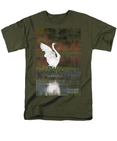 Egret Dancing Men's T-Shirt  (Regular Fit) by Bryan Keil