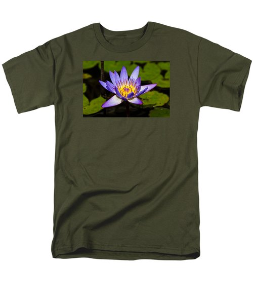 Egyptian Blue Water Lily  Men's T-Shirt  (Regular Fit) by Scott Carruthers