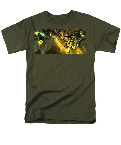 Men's T-Shirt  (Regular Fit) featuring the digital art Elaboration Of Day Into Dream by Richard Thomas