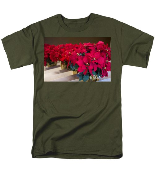 Elegant Poinsettias Men's T-Shirt  (Regular Fit) by Patricia Babbitt