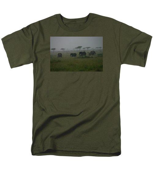 Elephants In Heavy Rain Men's T-Shirt  (Regular Fit) by Menachem Ganon