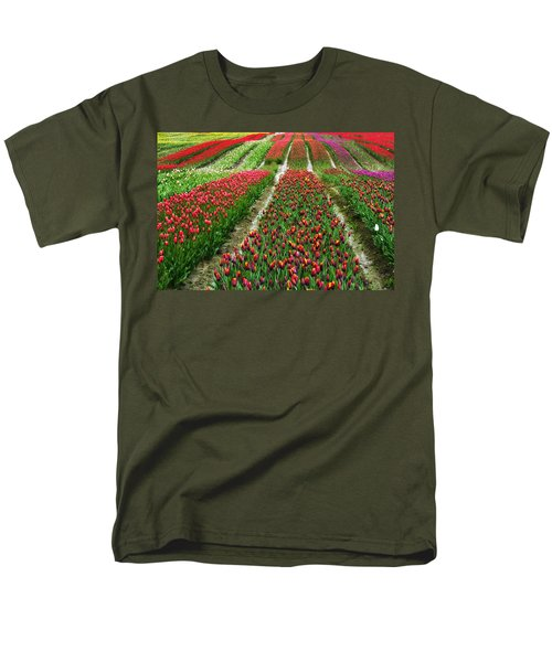 Endless Waves Of Tulips Men's T-Shirt  (Regular Fit) by Eti Reid