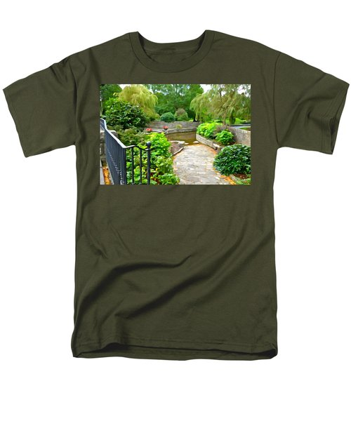 Enter The Garden Men's T-Shirt  (Regular Fit) by Charlie and Norma Brock