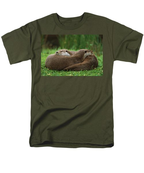 European River Otter Lutra Lutra Men's T-Shirt  (Regular Fit) by Ingo Arndt
