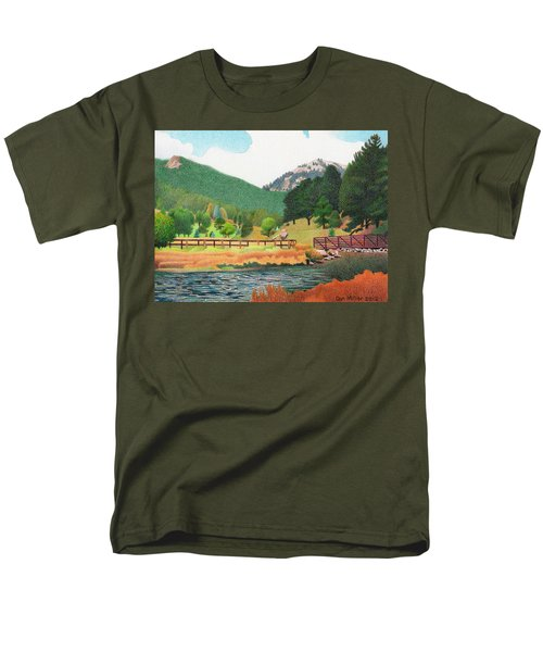 Evergreen Lake Spring Men's T-Shirt  (Regular Fit) by Dan Miller