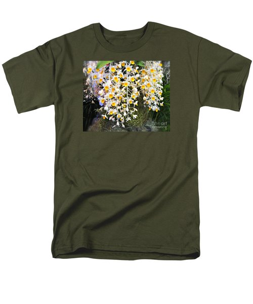 Exotic Aerides Men's T-Shirt  (Regular Fit) by The Art of Alice Terrill