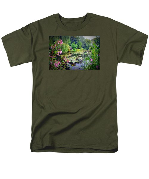 Fairy Tale Pond With Water Lilies And Willow Trees Men's T-Shirt  (Regular Fit) by Carla Parris