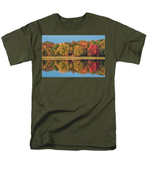 Fall Colors In Cabin Country Men's T-Shirt  (Regular Fit) by Paul Freidlund