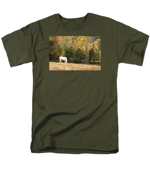 Men's T-Shirt  (Regular Fit) featuring the photograph Fall Grazing by Joan Davis