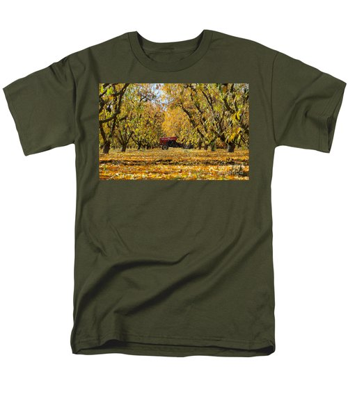 Fall In The Peach Orchard Men's T-Shirt  (Regular Fit) by Jim And Emily Bush