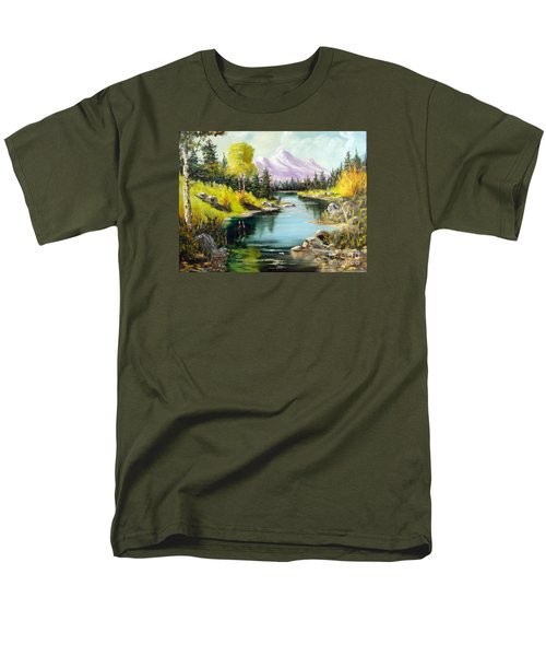 Fall In The Rockies Men's T-Shirt  (Regular Fit) by Lee Piper