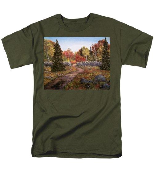 Fall Path Men's T-Shirt  (Regular Fit) by Megan Walsh