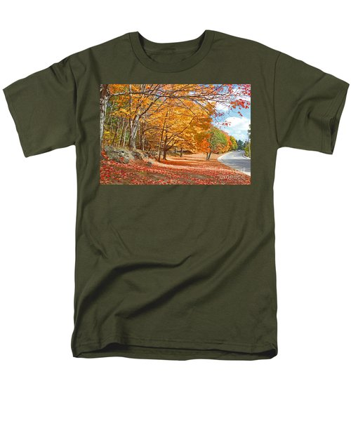 Falling Leaves On The Road To Bentley Men's T-Shirt  (Regular Fit) by Rita Brown