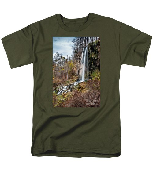 Falling Springs Fall Men's T-Shirt  (Regular Fit) by Debbie Green