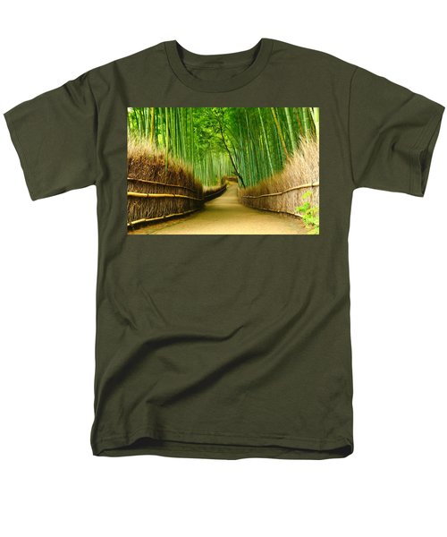 Famous Bamboo Grove At Arashiyama Men's T-Shirt  (Regular Fit) by Lanjee Chee