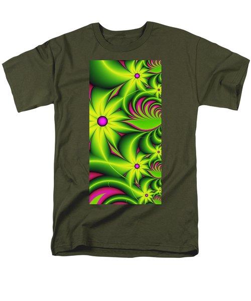 Men's T-Shirt  (Regular Fit) featuring the digital art Fantasy Flowers by Gabiw Art
