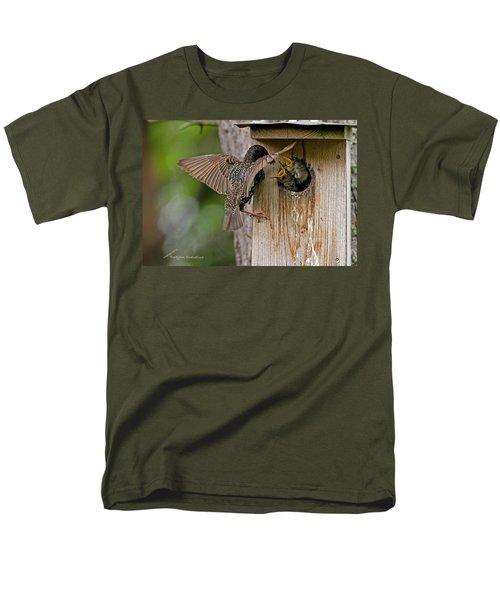 Feeding Starlings Men's T-Shirt  (Regular Fit) by Torbjorn Swenelius