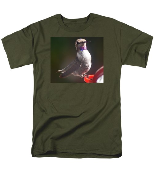 Men's T-Shirt  (Regular Fit) featuring the photograph Female Anna On Perch by Jay Milo