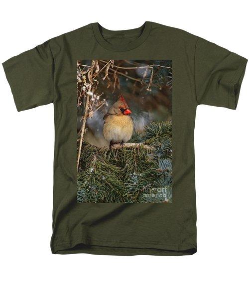 Female Norther Cardinal Men's T-Shirt  (Regular Fit) by Michael Cummings